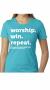 Women Who Win TShirt - Teal